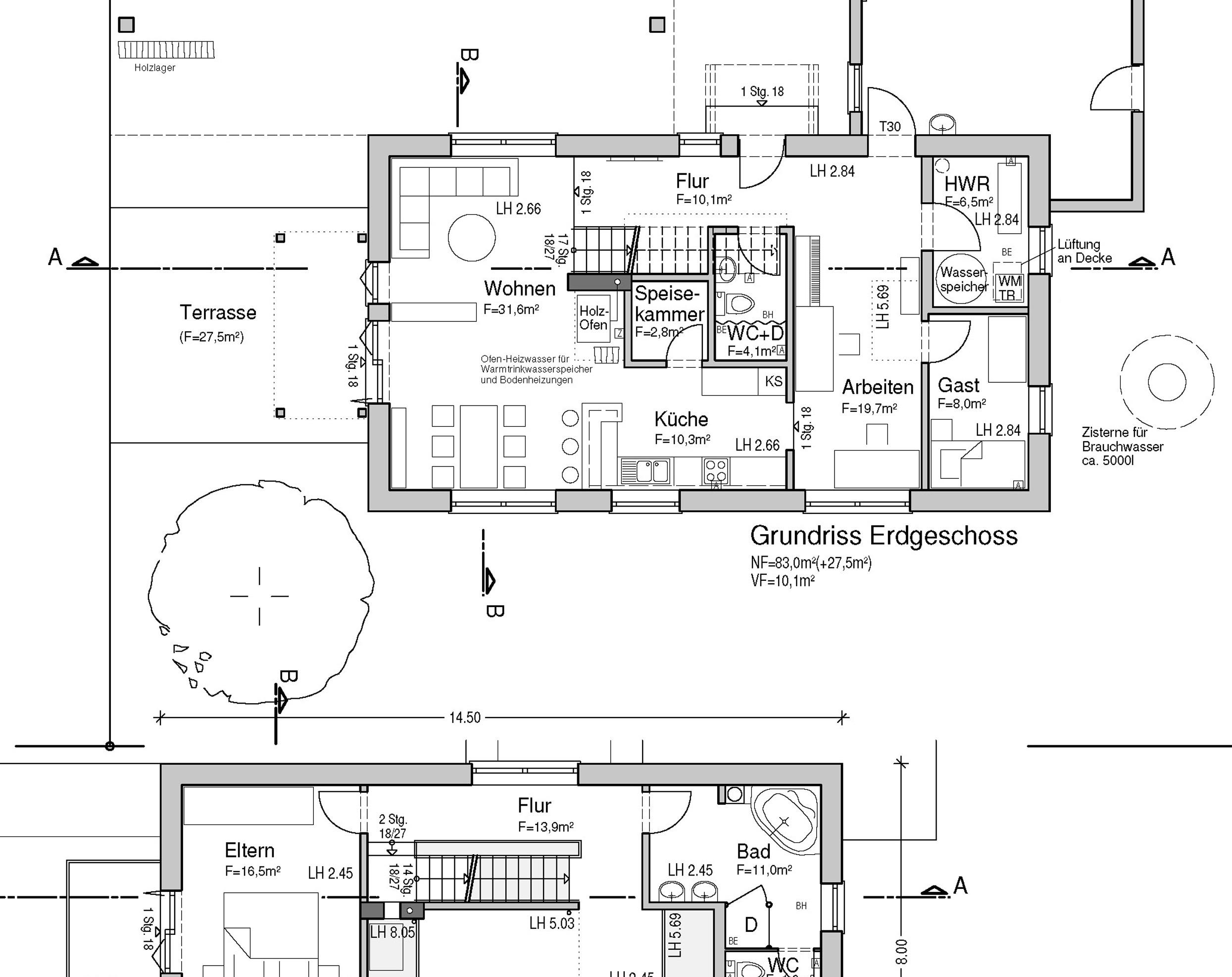 Grundrisse Erd- und Obergeschoss